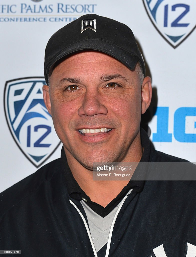 Former MLB player Jim Leyritz arrives to the innaugural Rose Bowl Game Golf Classic at Industry Hills Golf Course on December 29, 2012 in City of Industry, California.