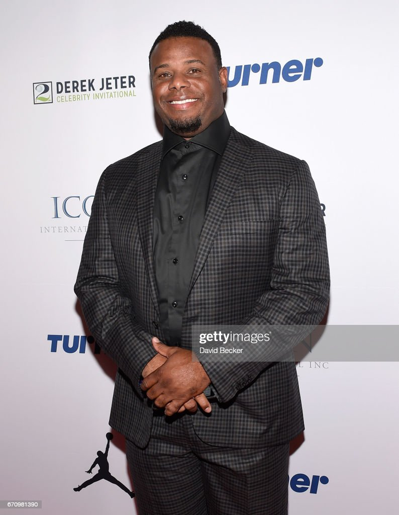 Former MLB player Ken Griffey Jr. attends the 2017 Derek Jeter Celebrity Invitational gala at the Aria Resort & Casino on April 20, 2017 in Las Vegas, Nevada.