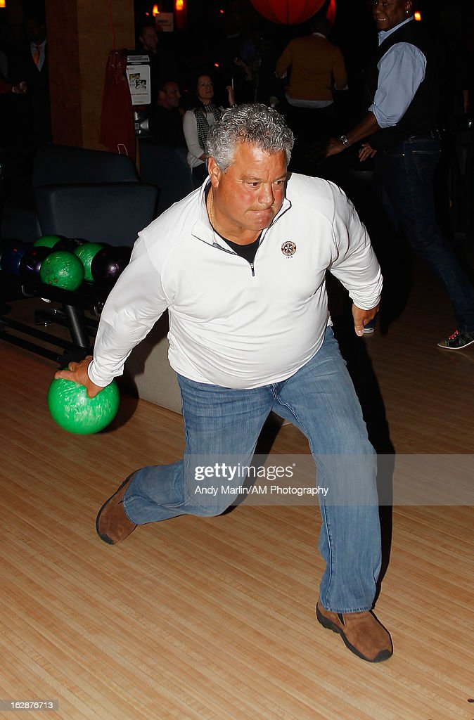 Former MLB player Rick Cerone bowls during the John Starks Foundation Celebrity Bowling Tournament on February 25, 2013 in New York City.