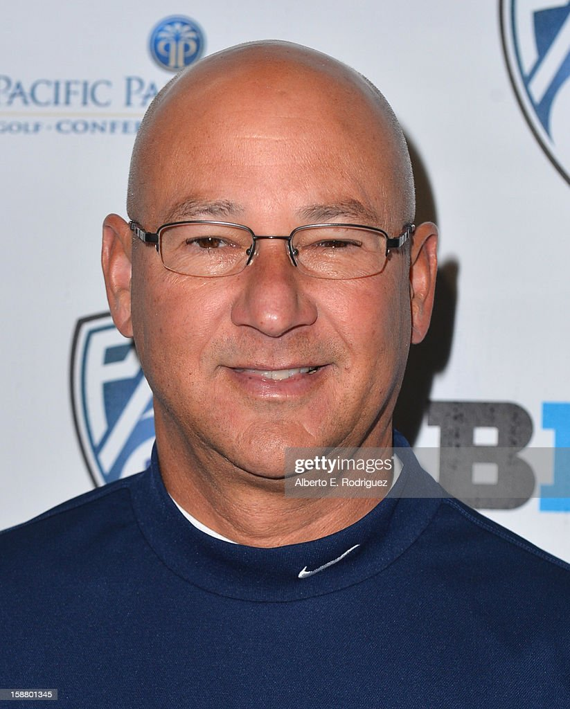 Former MLB player Terry Francona arrives to the innaugural Rose Bowl Game Golf Classic at Industry Hills Golf Course on December 29, 2012 in City of Industry, California.