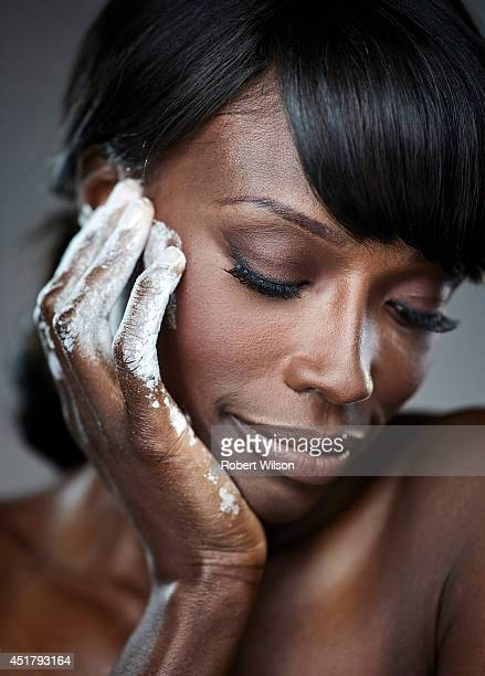 Former model and cook Lorraine Pascale is photographed for the Times on October 22 2013 in London England
