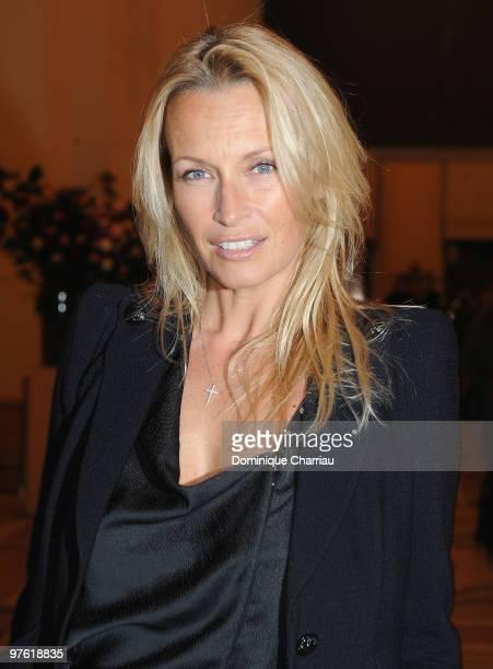 Former Model Estelle Lefebure attends the Yves SaintLaurent Exhibition Launch at Le Petit Palais on March 10 2010 in Paris France