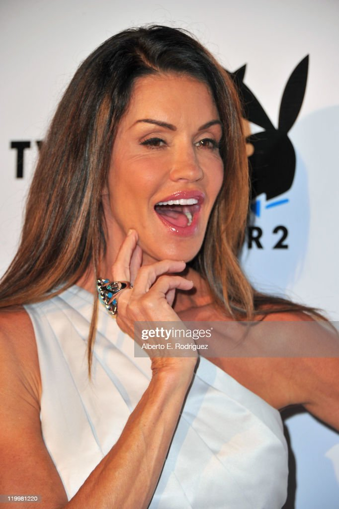 Former model Janice Dickinson arrives to Playboy TV's 'TV for 2' 2011 TCA event on July 27, 2011 in Los Angeles, California.