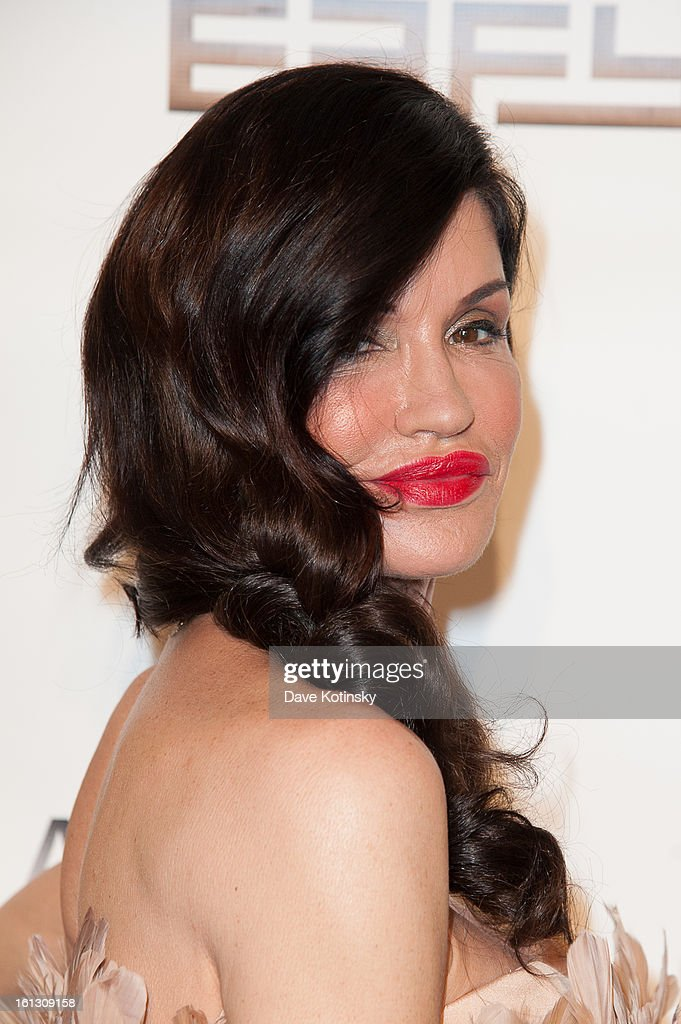 Former Model / TV Personality Janice Dickenson attends 'The Reality Of Fashion, The Reality Of AIDS' Benefit during Fall 2013 Fashion Week at Altman Building on February 9, 2013 in New York City.