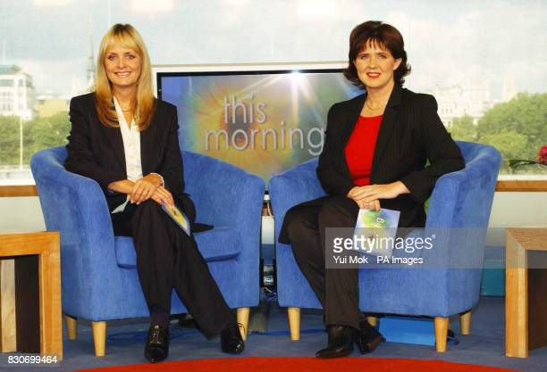 Former model Twiggy and Coleen Nolan from the pop group The Nolan Sisters present the ITV morning show 'This Morning' for the first time The pair...