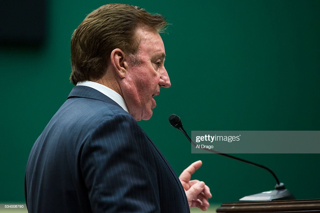 STATES - MAY 24 - Former NASCAR racer Richard Childress speaks at a Congressional Pediatric Trauma Briefing, in the Rayburn House Office Building in Washington, Tuesday, May 24, 2016.
