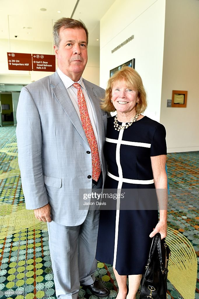 Former Nashville Mayor <a gi-track='captionPersonalityLinkClicked' href=/galleries/search?phrase=Karl+Dean&family=editorial&specificpeople=5385850 ng-click='$event.stopPropagation()'>Karl Dean</a> and wife, Anne arrive at 33rd Annual American Eagle Awards during Music Industry Day at Summer NAMM in Music City Center on June 25, 2016 in Nashville, Tennessee.