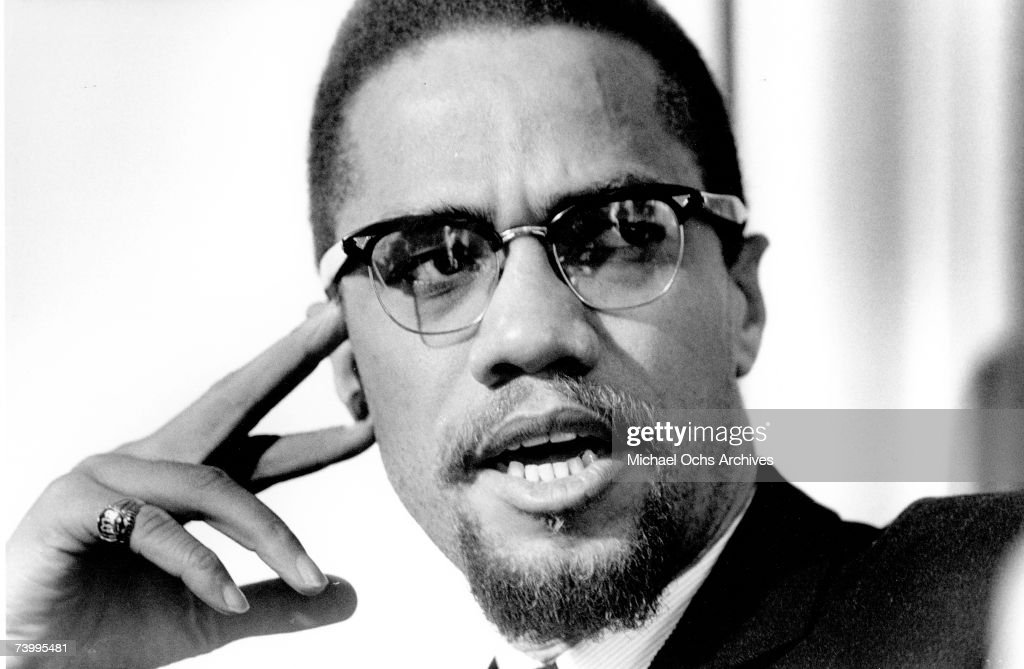Former Nation Of Islam leader and civil rights activist El-Hajj Malik El-Shabazz (aka <a gi-track='captionPersonalityLinkClicked' href=/galleries/search?phrase=Malcolm+X&family=editorial&specificpeople=70045 ng-click='$event.stopPropagation()'>Malcolm X</a> and Malcolm Little) poses for a portrait on February 16, 1965, in Rochester, New York.
