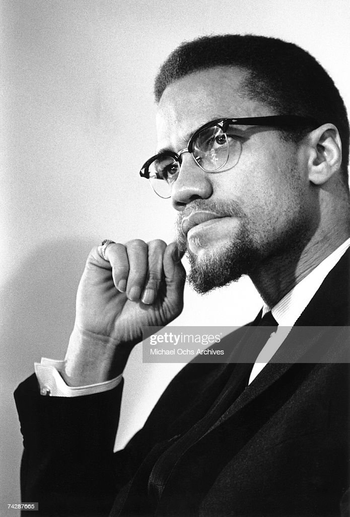 Former Nation Of Islam leader El-Hajj Malik El-Shabazz (aka <a gi-track='captionPersonalityLinkClicked' href=/galleries/search?phrase=Malcolm+X&family=editorial&specificpeople=70045 ng-click='$event.stopPropagation()'>Malcolm X</a> and Malcolm Little) poses for a portrait on February 16, 1965, in Rochester, New York.