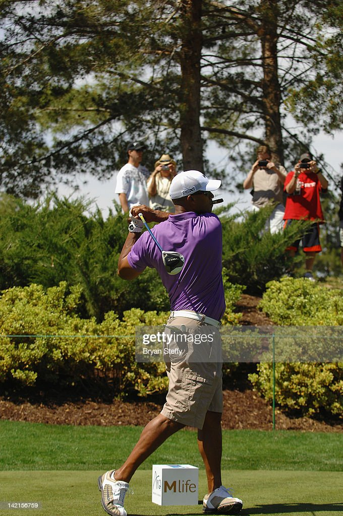 Former National Football League player Jason Taylor competes at the 11th Annual Michael Jordan Celebrity Invitational hosted by Aria Resort & Casino at Shadow Creek on March 30, 2012 in Las Vegas, Nevada.