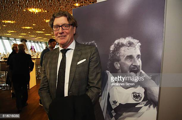 Former national goalkeeper Toni Schumacher attends the Club of former national players meeting during the international friendly between Germany and...