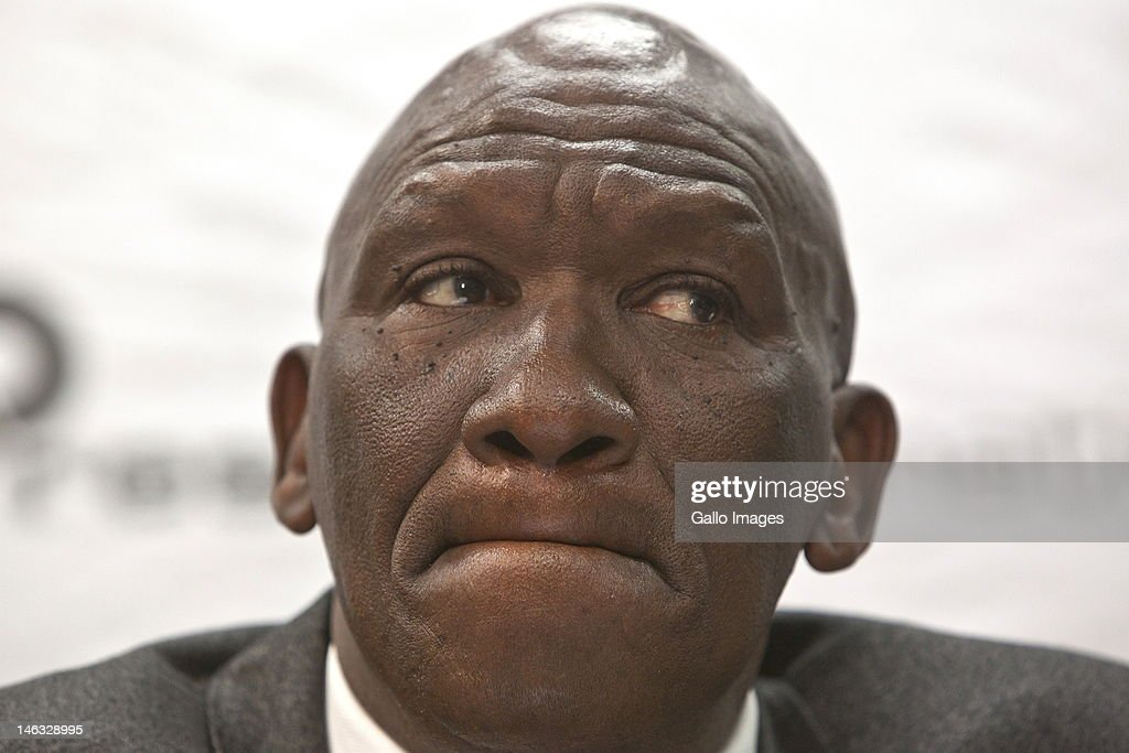 Former national police commissioner Bheki Cele attends a press conference on June 13, 2012 in Pretoria, South Africa where he discussed his dismissal and his decision to go to court to challenge the Board of Inquiry's report which led to his dismissal.