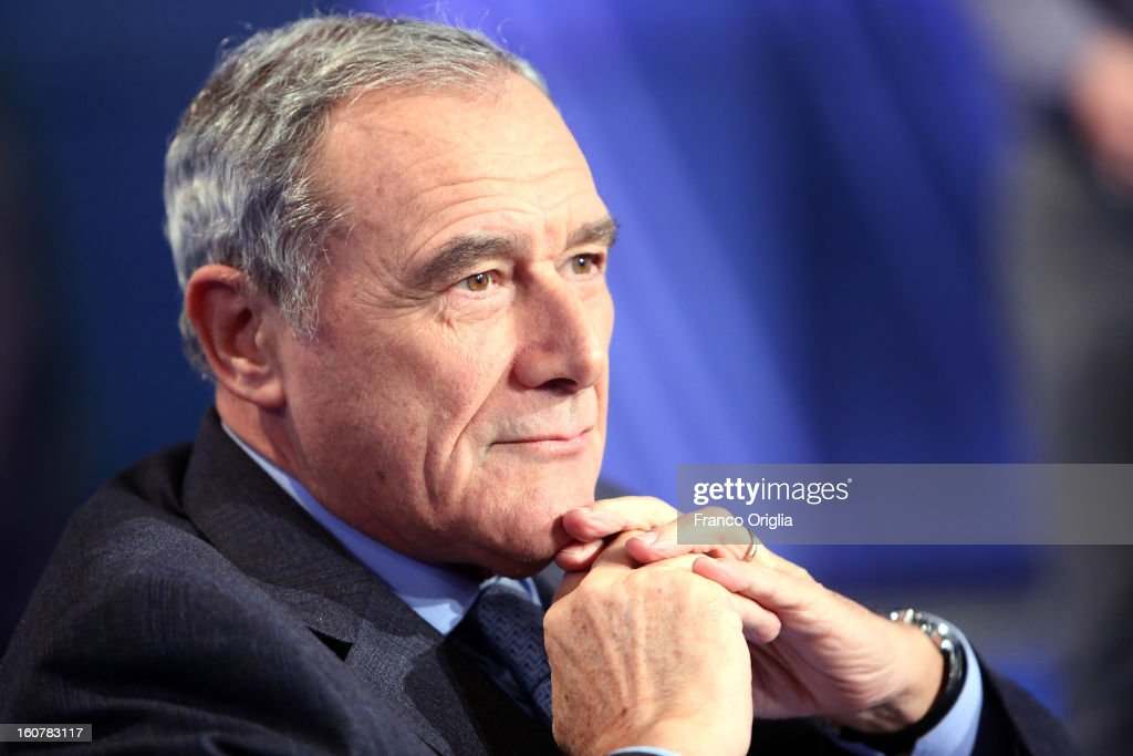 Former national prosecutor anti-mafia and candidate with PD (Democratic Party) for the next political elections (PD) Pietro Grasso attends 'Porta a Porta' TV talk show on February 5, 2013 in Rome, Italy. National Elections in Italy are scheduled for February 24.