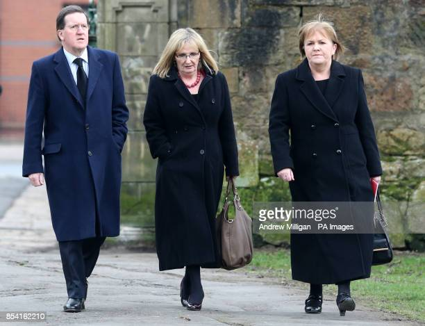 Former Nato General Secretary George Robertson Shadow Secretary of State for Scotland Margaret Curran and Scottish Labour Leader Johann Lamont at the...