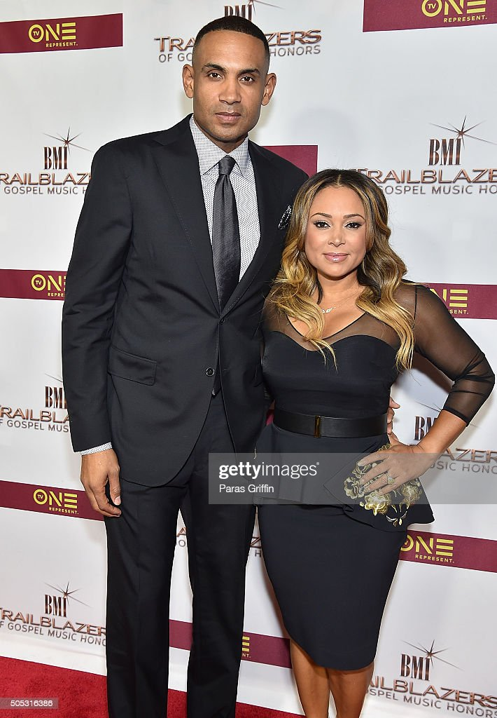 Former NBA Basketball Player <a gi-track='captionPersonalityLinkClicked' href=/galleries/search?phrase=Grant+Hill+-+Basketball+Player&family=editorial&specificpeople=201658 ng-click='$event.stopPropagation()'>Grant Hill</a> and recording artist <a gi-track='captionPersonalityLinkClicked' href=/galleries/search?phrase=Tamia&family=editorial&specificpeople=216487 ng-click='$event.stopPropagation()'>Tamia</a> attend 2016 BMI Trailblazers Of Gospel Music Awards at the Rialto Center for the Arts on January 16, 2016 in Atlanta, Georgia.