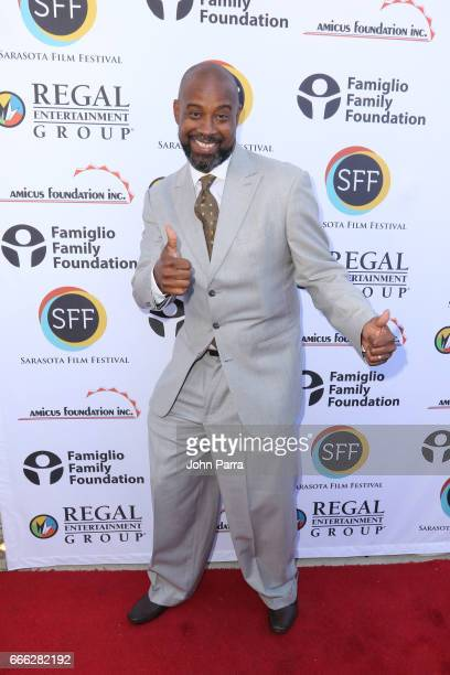 Former NBA basketball player Kenny Anderson arrives to the closing night ceremony and screening of 'Paris Can Wait' during the 2017 Sarasota Film...