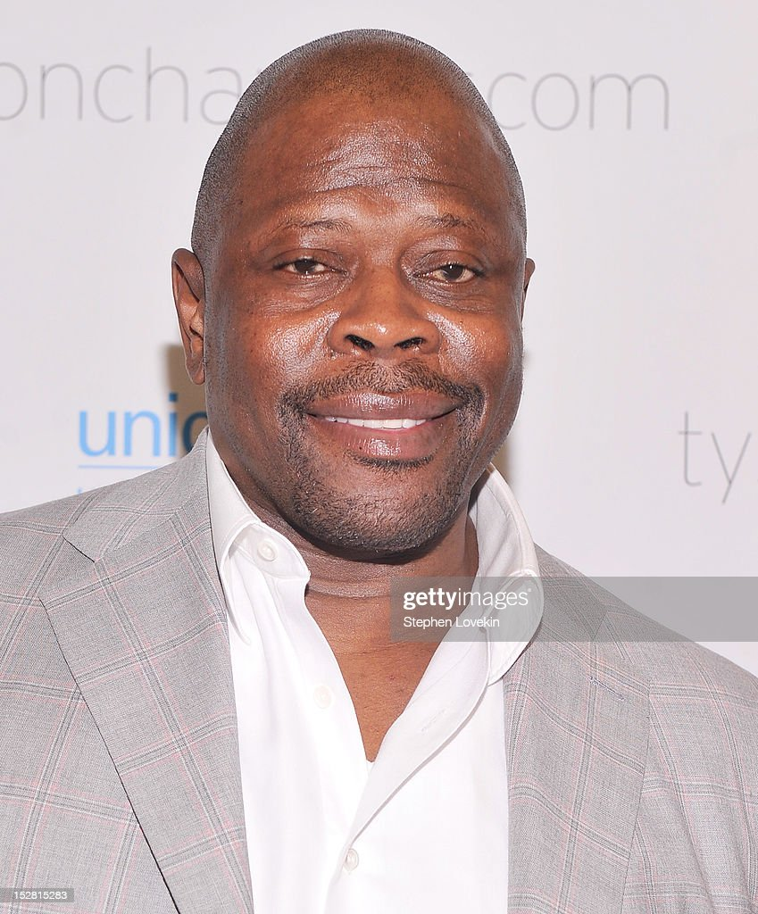 Former NBA basketball player Patrick Ewing attends the 'A Year In A New York Minute' photo exhibition at Canoe Studios on September 26, 2012 in New York City.