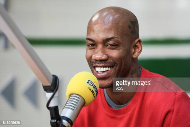 Former NBA basketball player Stephon Marbury attends the recording of Beijing Sports FM on February 22 2017 in Beijing China