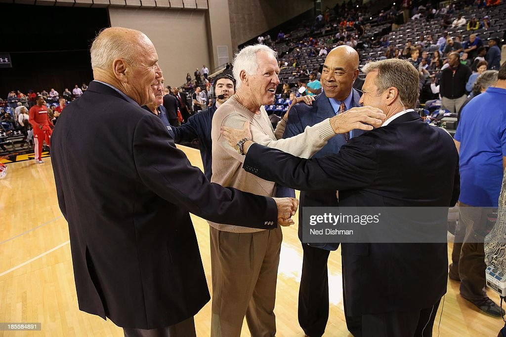 Former NBA coach Kevin Loughery shows up for th New York Knicks game against the Washington Wizards during the pre-season game at the Baltimore Arena on October 17, 2013 in Baltimore, MD.