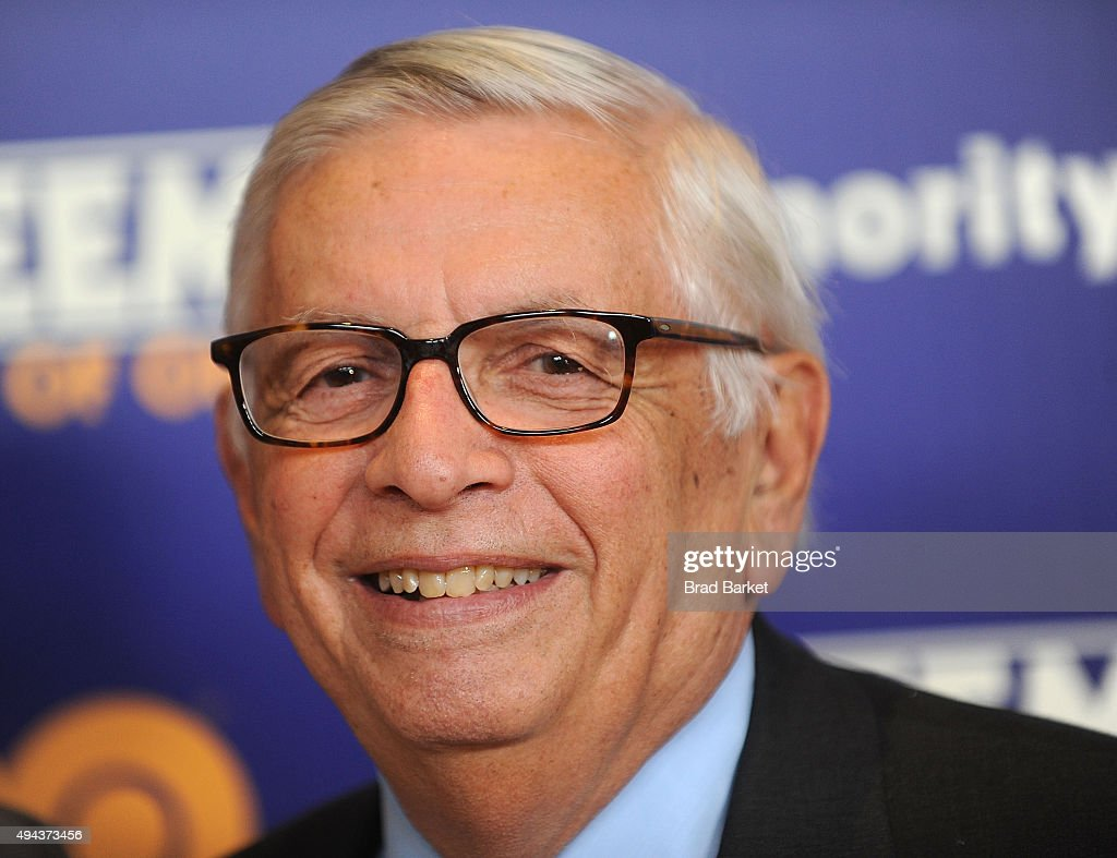 Former NBA Commissioner <a gi-track='captionPersonalityLinkClicked' href=/galleries/search?phrase=David+Stern&family=editorial&specificpeople=206848 ng-click='$event.stopPropagation()'>David Stern</a> attends the 'Kareem: Minority Of One' New York Premiere at Time Warner Center on October 26, 2015 in New York City.