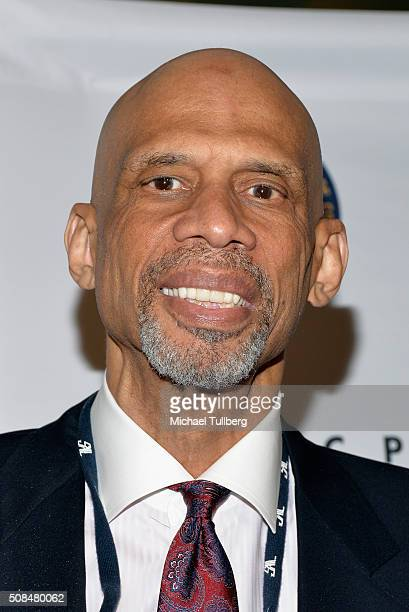 Former NBA great Kareem AbdulJabbar attends the 47th NAACP Image Awards nontelevised awards ceremony at Pasadena Conference Center on February 4 2016...