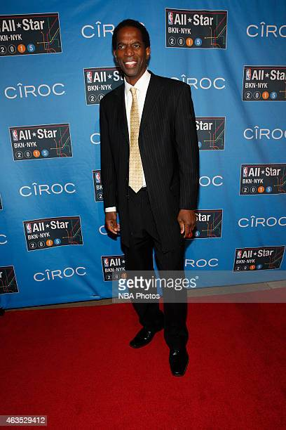 Former NBA player AC Green arrives prior to the 2015 NBA AllStar Game as part of the 2015 AllStar Weekend at Madison Square Garden on February 15...