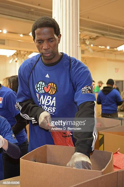 Former NBA Player AC Green participates in the NBA Cares AllStar Day of Service at the Metropolitan Pavilion on February 13 2015 in New York New York...