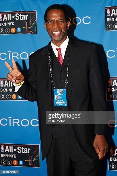 Former NBA player AC Green poses for a photo on State Farm AllStar Saturday Night as part of the 2015 NBA AllStar Weekend on February 14 2015 at...