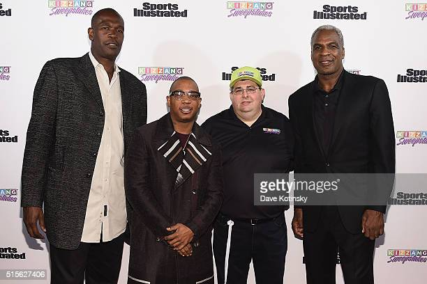 Former NBA Player and Coach Herb Williams rapper Ja Rule KIZZANG Founder and President Robert Alexander and NBA Legend Charles Oakley attends the...