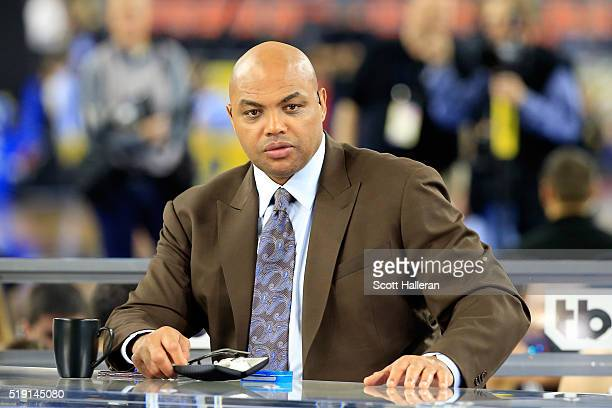 Former NBA player and commentator Charles Barkley looks on prior to the 2016 NCAA Men's Final Four National Championship game between the Villanova...