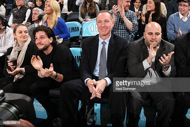 Former NBA player and current Head Coach of the St John's Red Storm Chris Mullin attends the game between the Indiana Pacers and New York Knicks on...