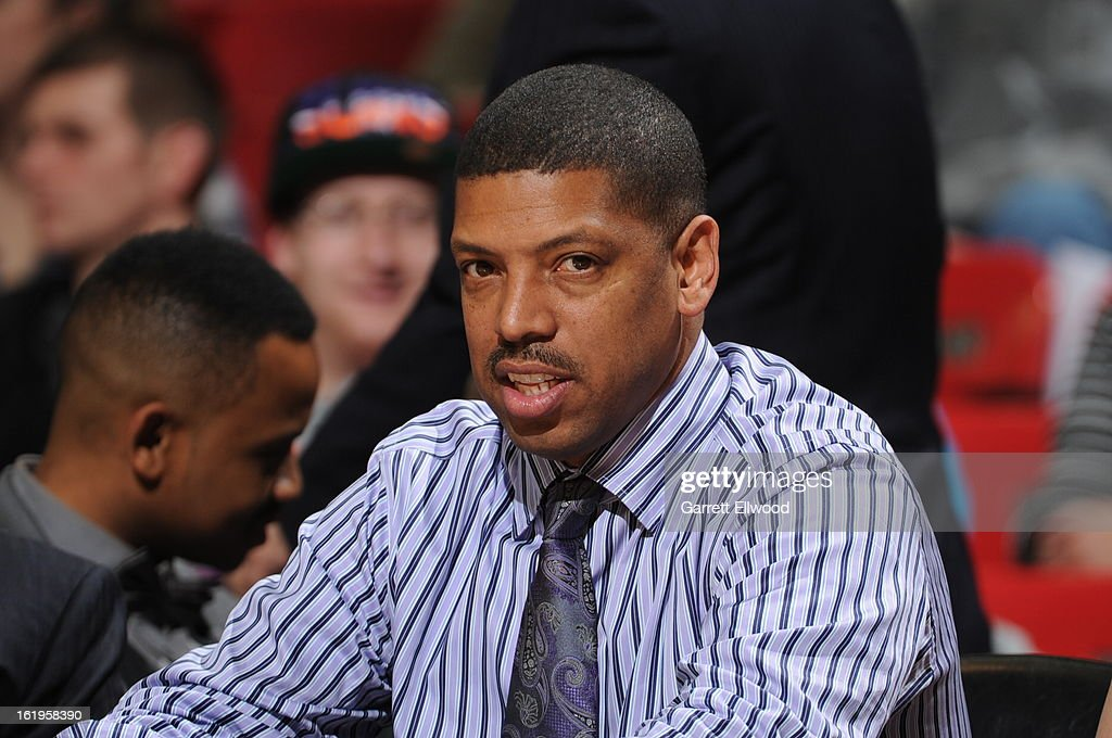 Former NBA player and current Mayor of Sacramento, Kevin Johnson looks on as the Sacramento Kings plays against the Phoenix Suns on January 23, 2013 at Sleep Train Arena in Sacramento, California.