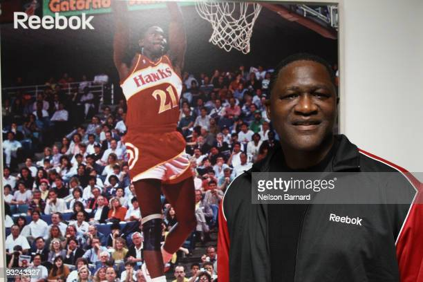 Former NBA player and Hall of Famer Dominique Wilkins attends the Reebok Pump 20th Anniversary at Pop Burger on November 19 2009 in New York City