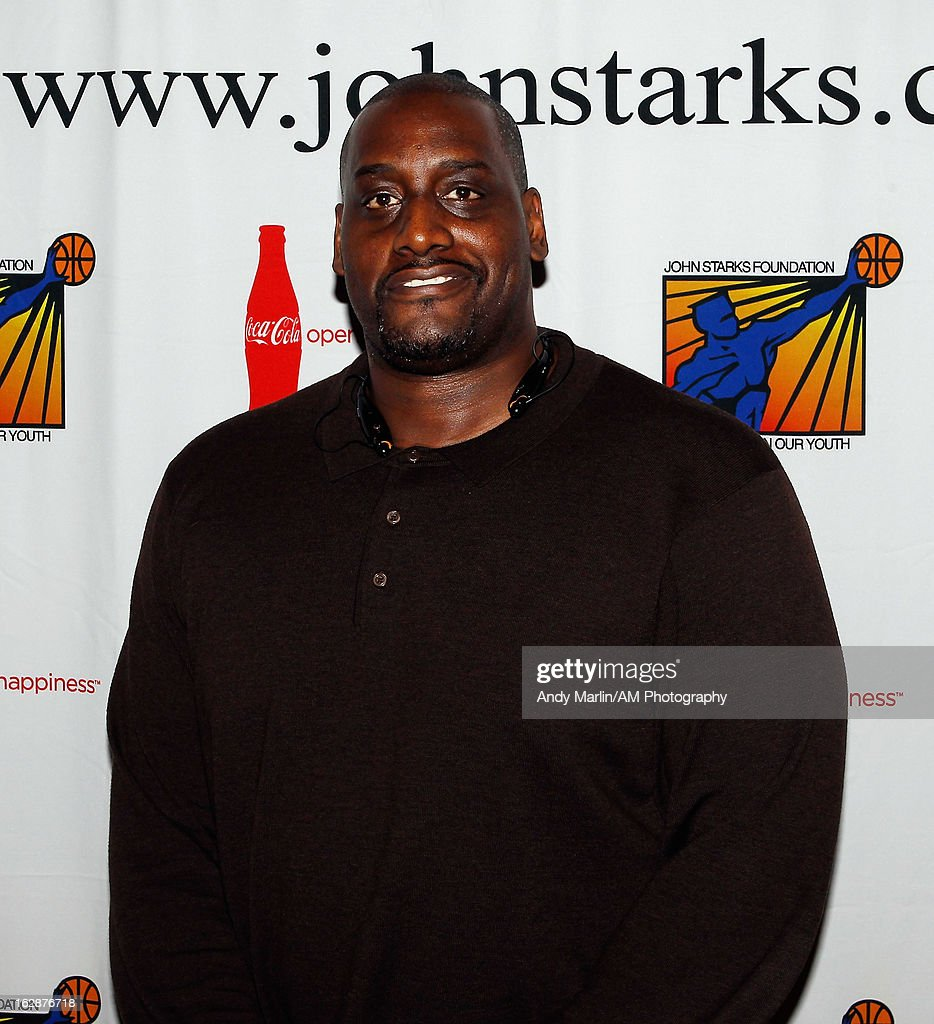 Former NBA player <a gi-track='captionPersonalityLinkClicked' href=/galleries/search?phrase=Anthony+Mason&family=editorial&specificpeople=211499 ng-click='$event.stopPropagation()'>Anthony Mason</a> poses for a photo during the John Starks Foundation Celebrity Bowling Tournament on February 25, 2013 in New York City.