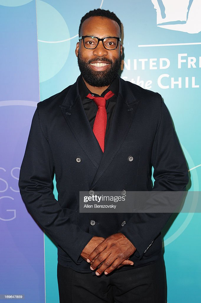 Former NBA player <a gi-track='captionPersonalityLinkClicked' href=/galleries/search?phrase=Baron+Davis&family=editorial&specificpeople=201592 ng-click='$event.stopPropagation()'>Baron Davis</a> arrives at the United Friends of the Children Brass Ring Awards Dinner 2013 at The Beverly Hilton Hotel on May 29, 2013 in Beverly Hills, California.