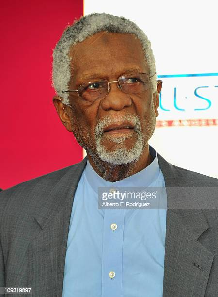 Former NBA player Bill Russell arrives to the TMobile Magenta Carpet at the 2011 NBA AllStar Game on February 20 2011 in Los Angeles California