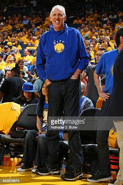 Former NBA player Bill Walton attends Game Five of the 2016 NBA Finals between the Cleveland Cavaliers and the Golden State Warriors on June 13 2016...