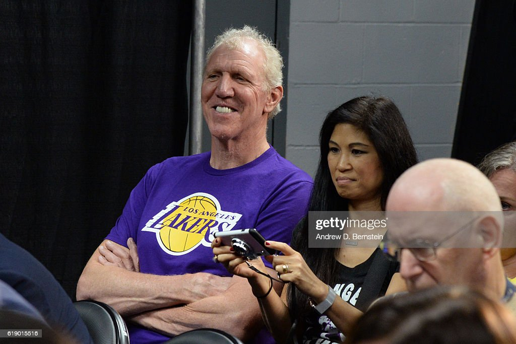 Former NBA player, Bill Walton sits in on the Los Angeles Lakers pregame press conference before the game against the Houston Rockets on October 26, 2016 at STAPLES Center in Los Angeles, California.