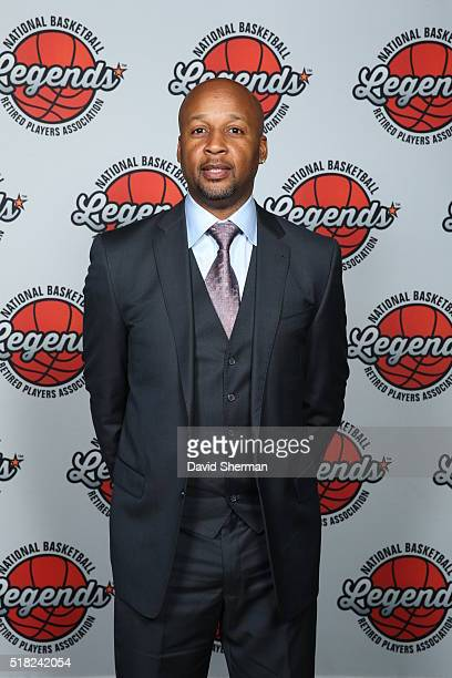Former NBA player Brian Shaw attends the NBA Legends Brunch as part of NBA AllStar 2016 on February 14 2016 in Toronto Ontario Canada NOTE TO USER...