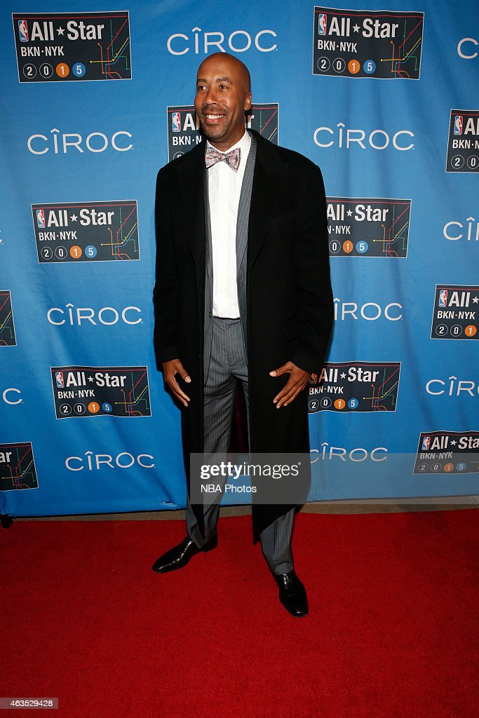 Former NBA player <a gi-track='captionPersonalityLinkClicked' href=/galleries/search?phrase=Bruce+Bowen&family=editorial&specificpeople=201662 ng-click='$event.stopPropagation()'>Bruce Bowen</a> arrives prior to the 2015 NBA All-Star Game as part of the 2015 All-Star Weekend at Madison Square Garden on February 15, 2015 in New York, New York.