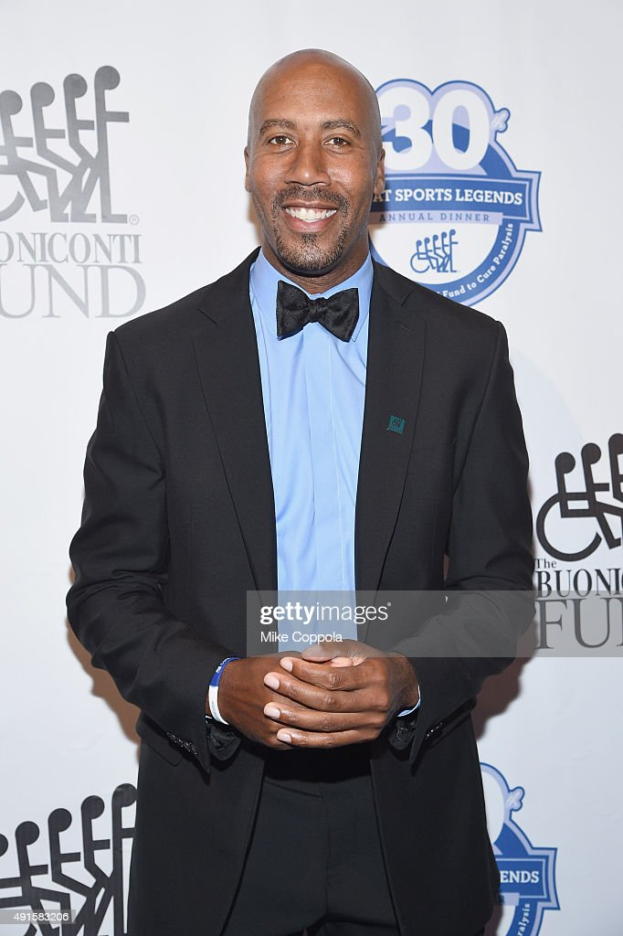 Former NBA player <a gi-track='captionPersonalityLinkClicked' href=/galleries/search?phrase=Bruce+Bowen&family=editorial&specificpeople=201662 ng-click='$event.stopPropagation()'>Bruce Bowen</a>attends the 30th Annual Great Sports Legends Dinner to benefit The Buoniconti Fund to Cure Paralysis at The Waldorf Astoria on October 6, 2015 in New York City.