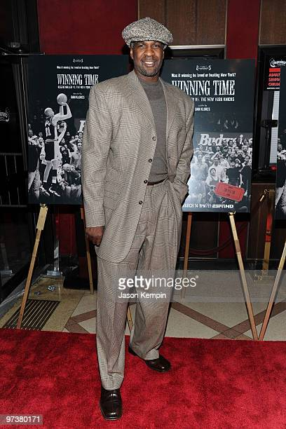 Former NBA player Charles Oakley attends the premiere of 'Winning Time Reggie Miller vs The New York Knicks' at the Ziegfeld Theatre on March 2 2010...