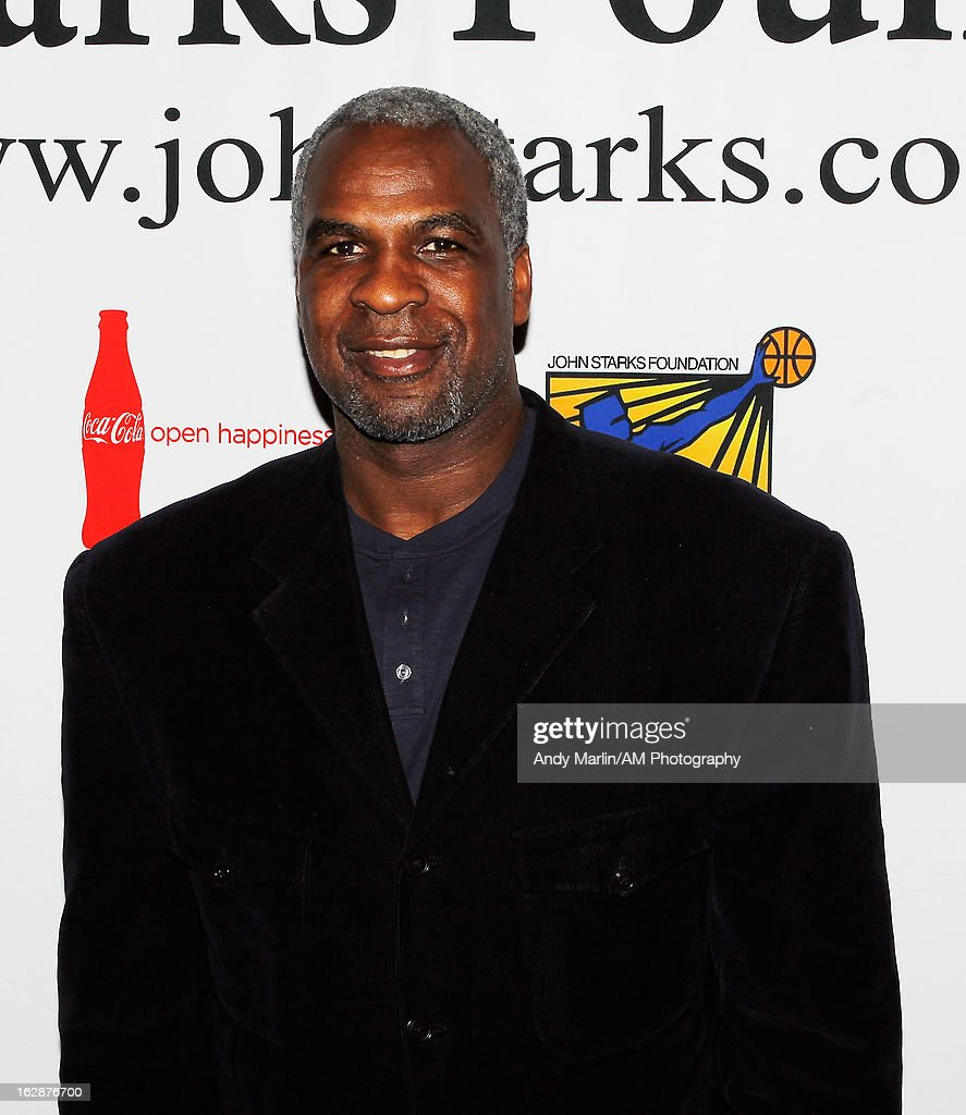 Former NBA player <a gi-track='captionPersonalityLinkClicked' href=/galleries/search?phrase=Charles+Oakley&family=editorial&specificpeople=213241 ng-click='$event.stopPropagation()'>Charles Oakley</a> poses for a photo during the John Starks Foundation Celebrity Bowling Tournament on February 25, 2013 in New York City.