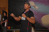 Former NBA player Corey Maggette participates in the 16th annual Charity BasketBowl Challenge at Keystone Lanes on February 27 2016 in Norwalk...