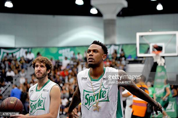 Former NBA player Daniel 'Booby' Gibson participates in the Sprite celebrity basketball game during the 2015 BET Experience at the Los Angeles...