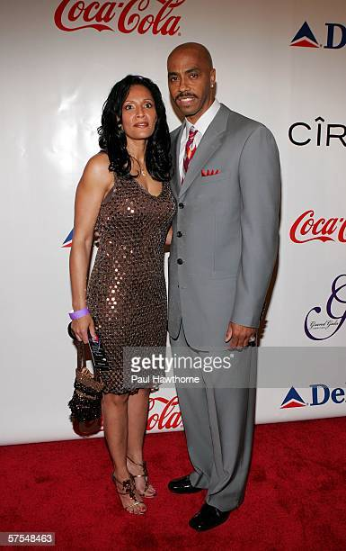 Former NBA player Darrell Griffith and wife attend the Fifth Annual Grand Gala at the Galt House East on May 6 2006 in Louisville Kentucky