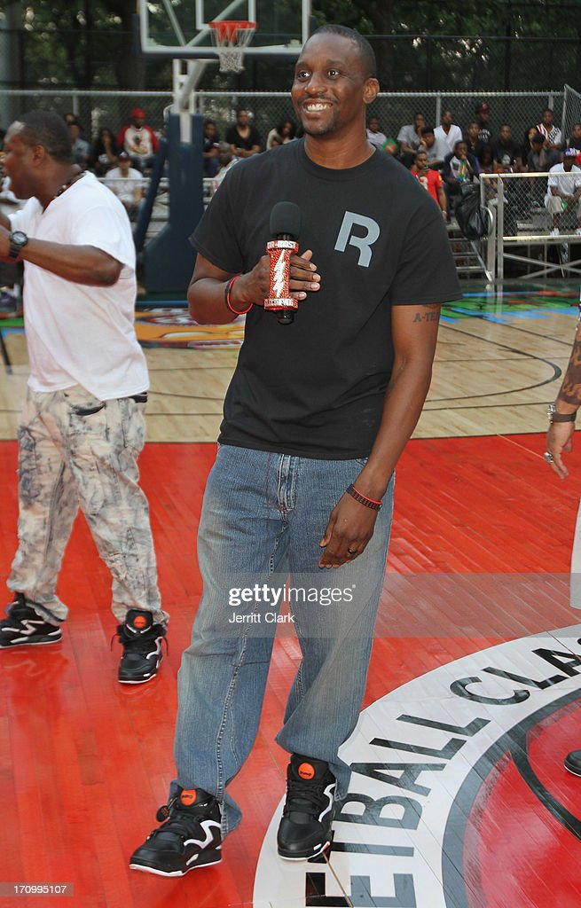 Former NBA Player Dee Brown makes a surprise appearance at the Reebok Classic Pump Omni Lite Dunk Contest at EBC at Rucker Park on June 20, 2013 in New York City.