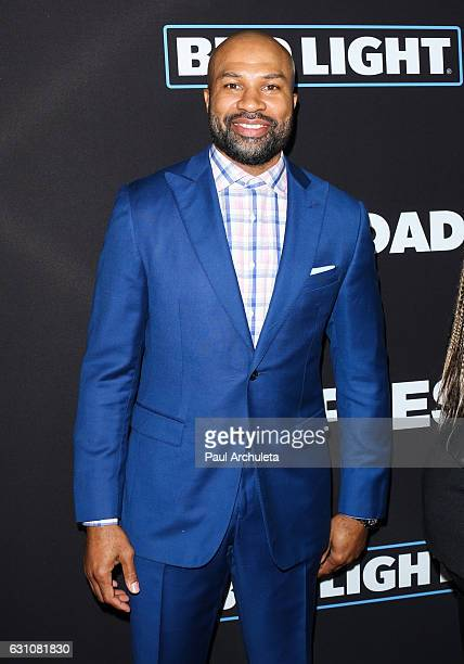 Former NBA Player Derek Fisher attends the premiere of 'Sleepless' at the Regal LA Live Stadium 14 on January 5 2017 in Los Angeles California