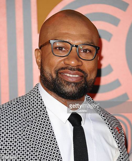 Former NBA player Derek Fisher attends the premiere of 'The Nice Guys' at TCL Chinese Theatre on May 10 2016 in Hollywood California