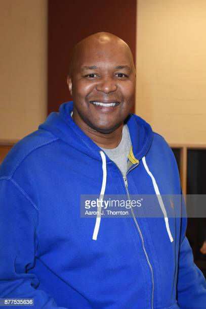 Former NBA player Derrick Coleman attends the 2017 Annual AllStar Giveback Thanksgiving Edition on November 21 2017 in Detroit Michigan